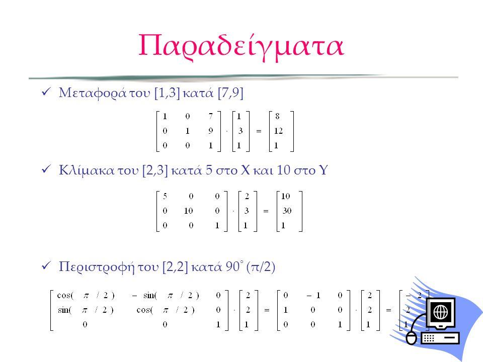 Παραδείγματα Μεταφορά του [1,3] κατά [7,9]